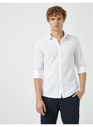 Koton Klasik Yaka Uzun Kollu Basic Gömlek Beyaz